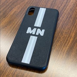 The Daily Edited iPhone X phone case - MN initials